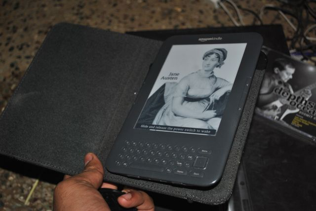 Kindle and its cover, twisted but safe